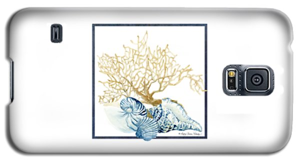 Beach House Nautilus Scallop N Conch With Tan Fan Coral Galaxy S5 Case