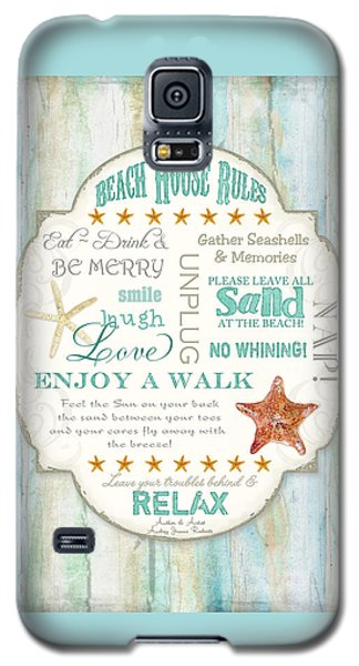 Beach House Rules - Refreshing Shore Typography Galaxy S5 Case