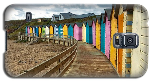 Galaxy S5 Case featuring the photograph Beach Huts by RKAB Works