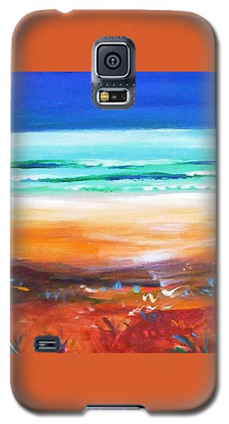 Galaxy S5 Case featuring the painting Beach Joy by Winsome Gunning