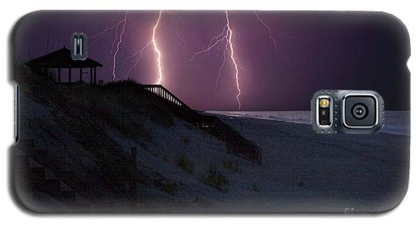 Beach Lighting Storm Galaxy S5 Case by Randy Steele