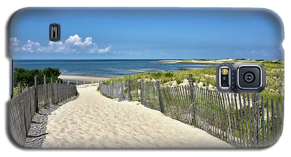 Galaxy S5 Case featuring the photograph Beach Path At Cape Henlopen State Park - The Point - Delaware by Brendan Reals