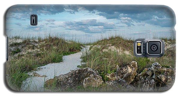 Galaxy S5 Case featuring the photograph Beach Path by Louis Ferreira