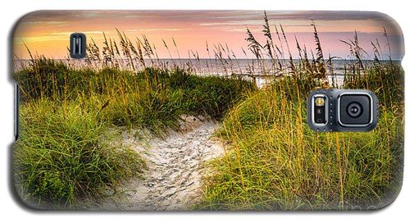Beach Path Sunrise Galaxy S5 Case