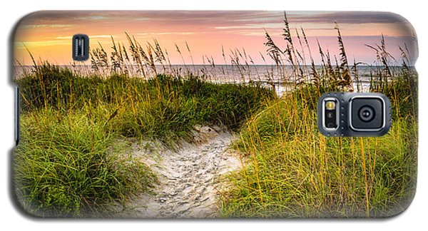 Beach Path Sunrise Galaxy S5 Case