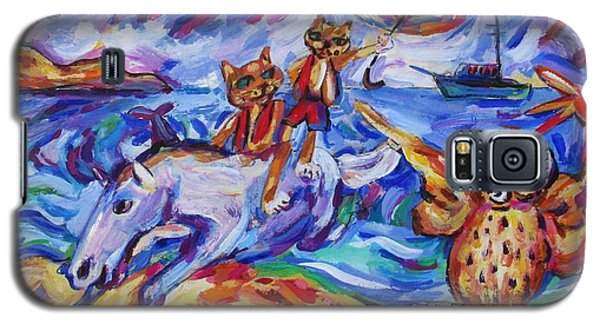 Galaxy S5 Case featuring the painting Beach Run by Dianne  Connolly