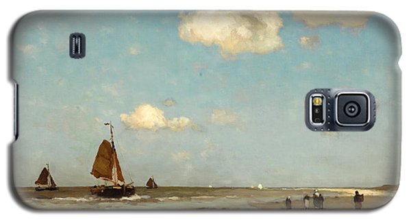 Galaxy S5 Case featuring the painting Beach Scene by Jan Hendrik Weissenbruch