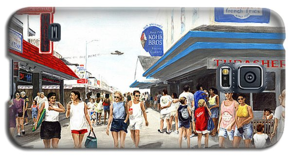 Beach/shore I Boardwalk Ocean City Md - Original Fine Art Painting Galaxy S5 Case
