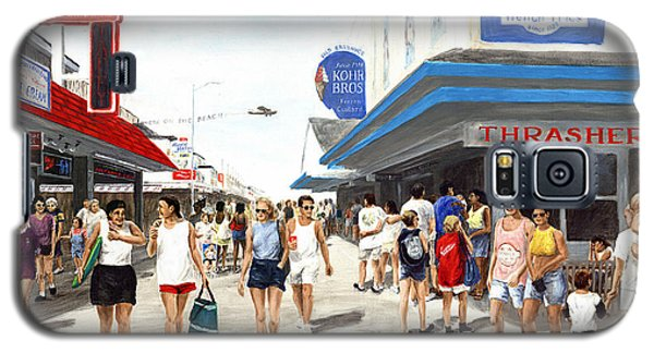 Beach/shore I Boardwalk Ocean City Md - Original Fine Art Painting Galaxy S5 Case