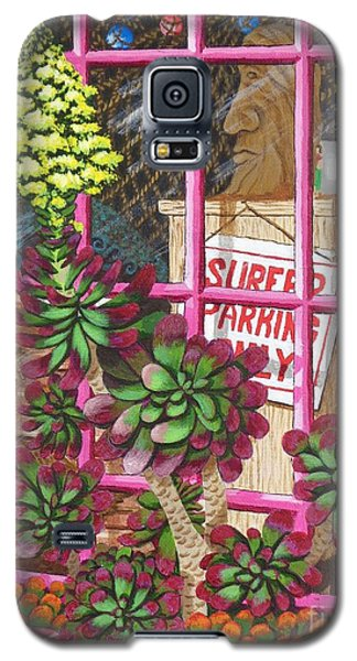 Galaxy S5 Case featuring the painting Beach Side Storefront Window by Katherine Young-Beck