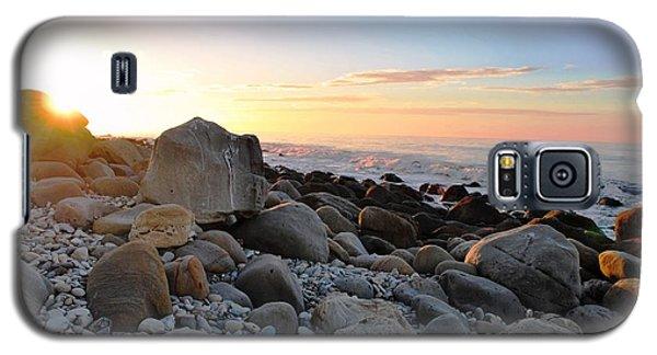 Beach Sunrise Over Rocks Galaxy S5 Case