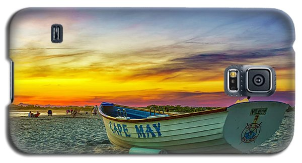 Beach Sunset In Cape May Galaxy S5 Case