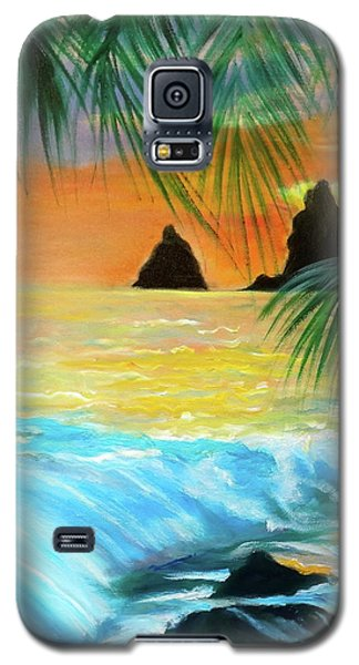 Beach Sunset Galaxy S5 Case by Jenny Lee