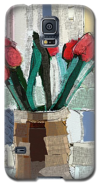 Beach Tulips Galaxy S5 Case by Carrie Joy Byrnes