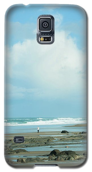 Galaxy S5 Case featuring the photograph Beach Walk by Mary Jo Allen