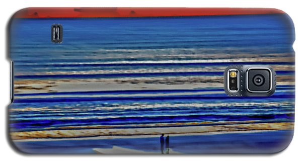 Beach Walking At Sunrise Galaxy S5 Case