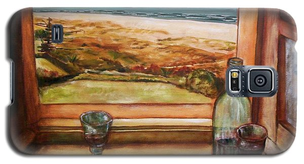 Galaxy S5 Case featuring the painting Beach Window by Winsome Gunning