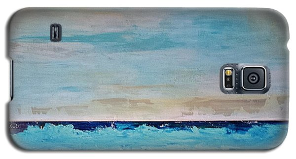 Galaxy S5 Case featuring the painting Beach1 by Diana Bursztein