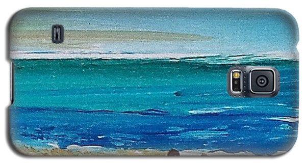 Galaxy S5 Case featuring the painting Beach2 by Diana Bursztein