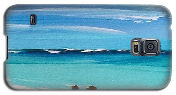 Galaxy S5 Case featuring the painting Beach3 by Diana Bursztein