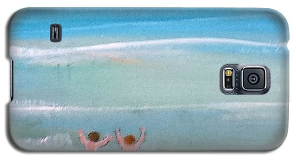 Galaxy S5 Case featuring the painting Beach4 by Diana Bursztein
