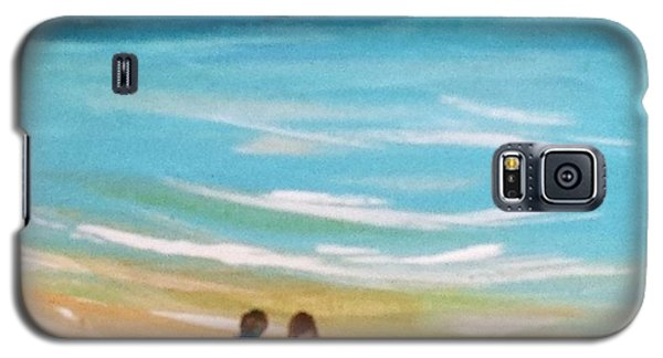 Galaxy S5 Case featuring the painting Beach5 by Diana Bursztein