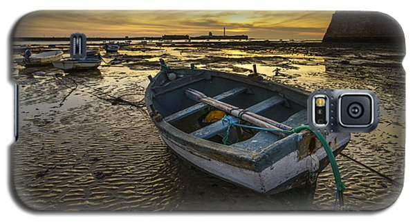 Beached Boat On La Caleta Cadiz Spain Galaxy S5 Case