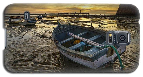 Beached Boat On La Caleta Cadiz Spain Galaxy S5 Case