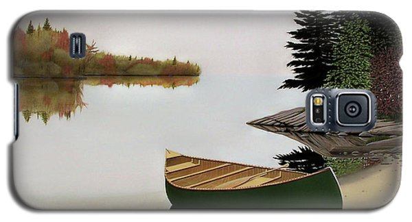 Beached Canoe In Muskoka Galaxy S5 Case