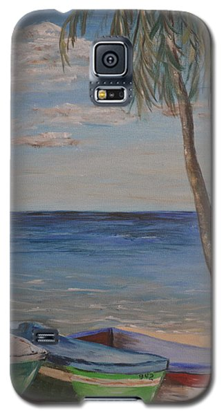 Galaxy S5 Case featuring the painting Beached by Debbie Baker