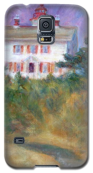 Beacon On The Hill - Lighthouse Painting Galaxy S5 Case