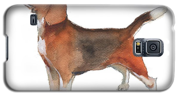 Beagle Watercolor Painting By Kmcelwaine Galaxy S5 Case