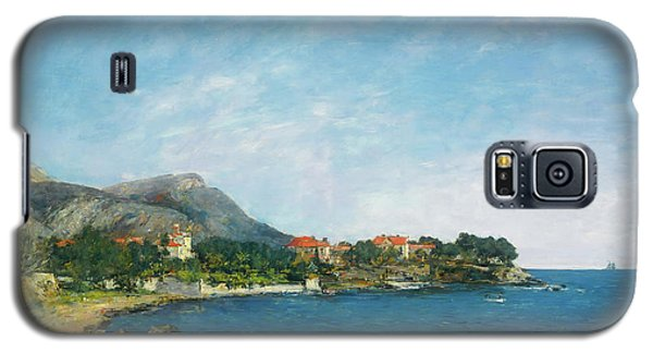 Galaxy S5 Case featuring the painting Bealieu - The Bay Of Fourmis by Eugene Boudin