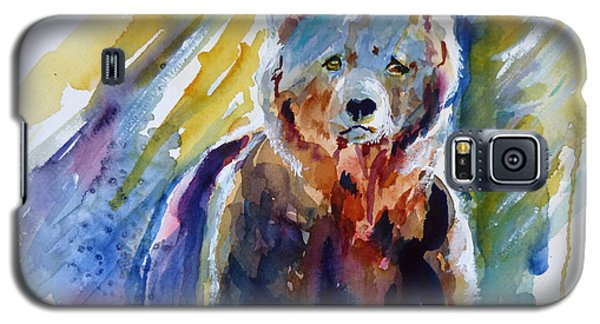Galaxy S5 Case featuring the painting Bear From The Woods by P Maure Bausch
