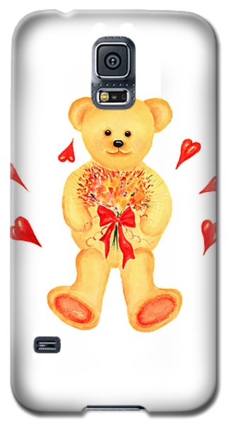 Galaxy S5 Case featuring the painting Bear In Love by Elizabeth Lock