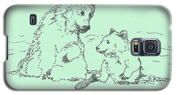 Galaxy S5 Case featuring the drawing Bear Necessities by Denise Fulmer