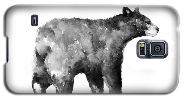Bear Watercolor Drawing Poster Galaxy S5 Case by Joanna Szmerdt