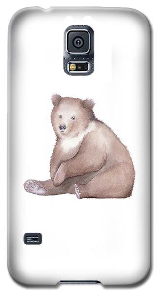Bear Watercolor Galaxy S5 Case by Taylan Apukovska