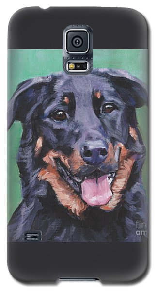 Galaxy S5 Case featuring the painting Beauceron Portrait by Lee Ann Shepard