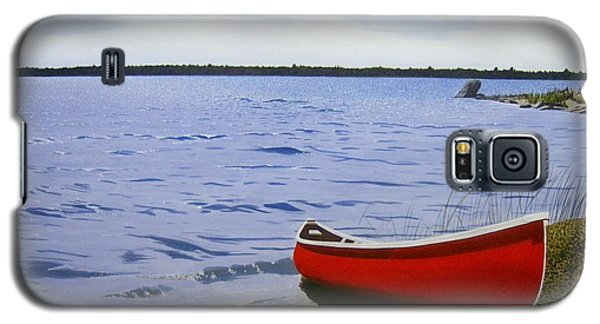Beaultiful Red Canoe Galaxy S5 Case