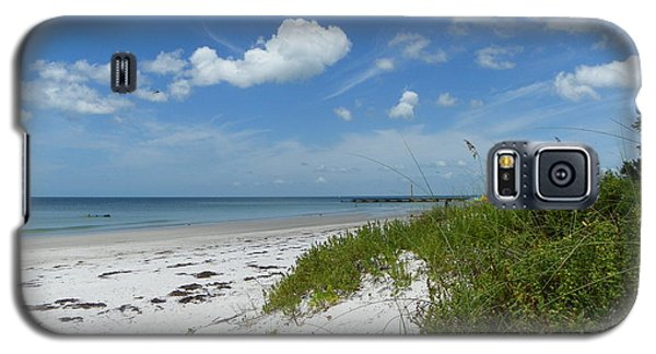 Galaxy S5 Case featuring the photograph Beautiful Beach Day by Carol  Bradley