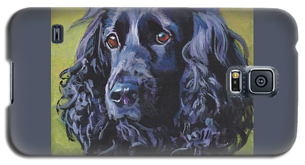 Galaxy S5 Case featuring the painting Beautiful Black English Cocker Spaniel by Lee Ann Shepard