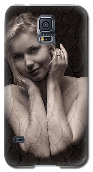 Galaxy S5 Case featuring the photograph Beautiful Blonde Posing by Michael Edwards