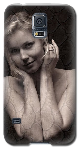 Beautiful Blonde Posing Galaxy S5 Case by Michael Edwards