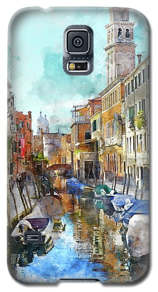 Beautiful Boats In Venice, Italy Galaxy S5 Case