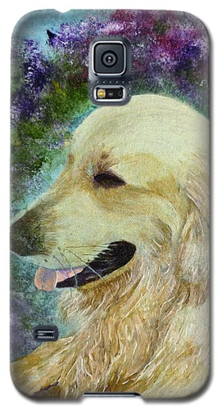 Galaxy S5 Case featuring the painting Beautiful Golden by Claire Bull