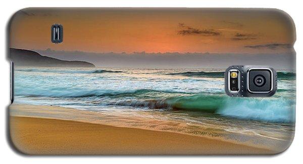 Beautiful Hazy Sunrise Seascape  Galaxy S5 Case