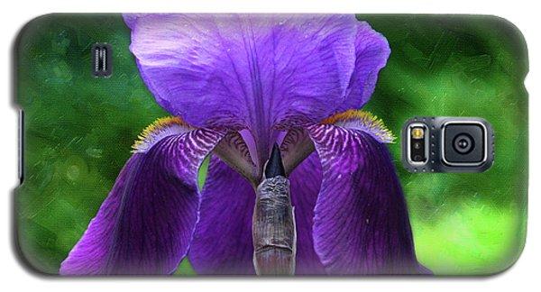 Beautiful Iris With Texture Galaxy S5 Case