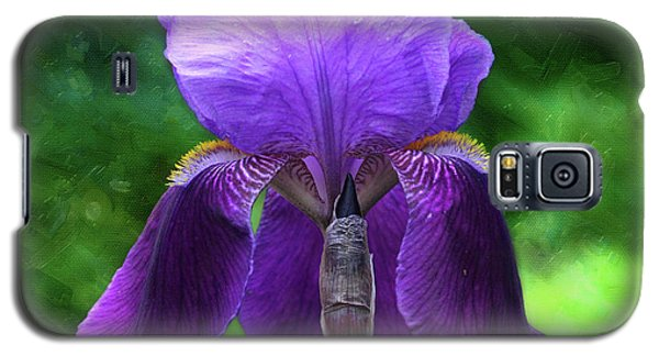 Beautiful Iris With Texture Galaxy S5 Case