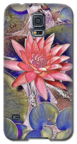 Beautiful Pink Lotus Abstract Galaxy S5 Case